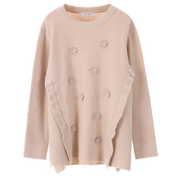 [韓国直送] 【オンエンオン] ribbon frill knit NK7WP515