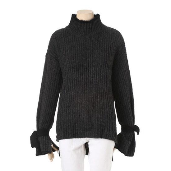 プラスチックアイルランド小売リボンニットPG4KL263CH ニット/セーター/ニット/韓国ファッション