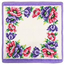 【メール便で発送】フェイラー タオルハンカチ モーンポピーズ Mohn weiss(Poppies) 052 Purple パープル【30×30】(6025718)