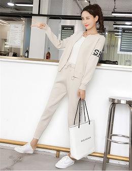韓国ファッションセットアップ ジャージ パンツ スポーティ ジャケット ♡暖かくて、肌触り抜群