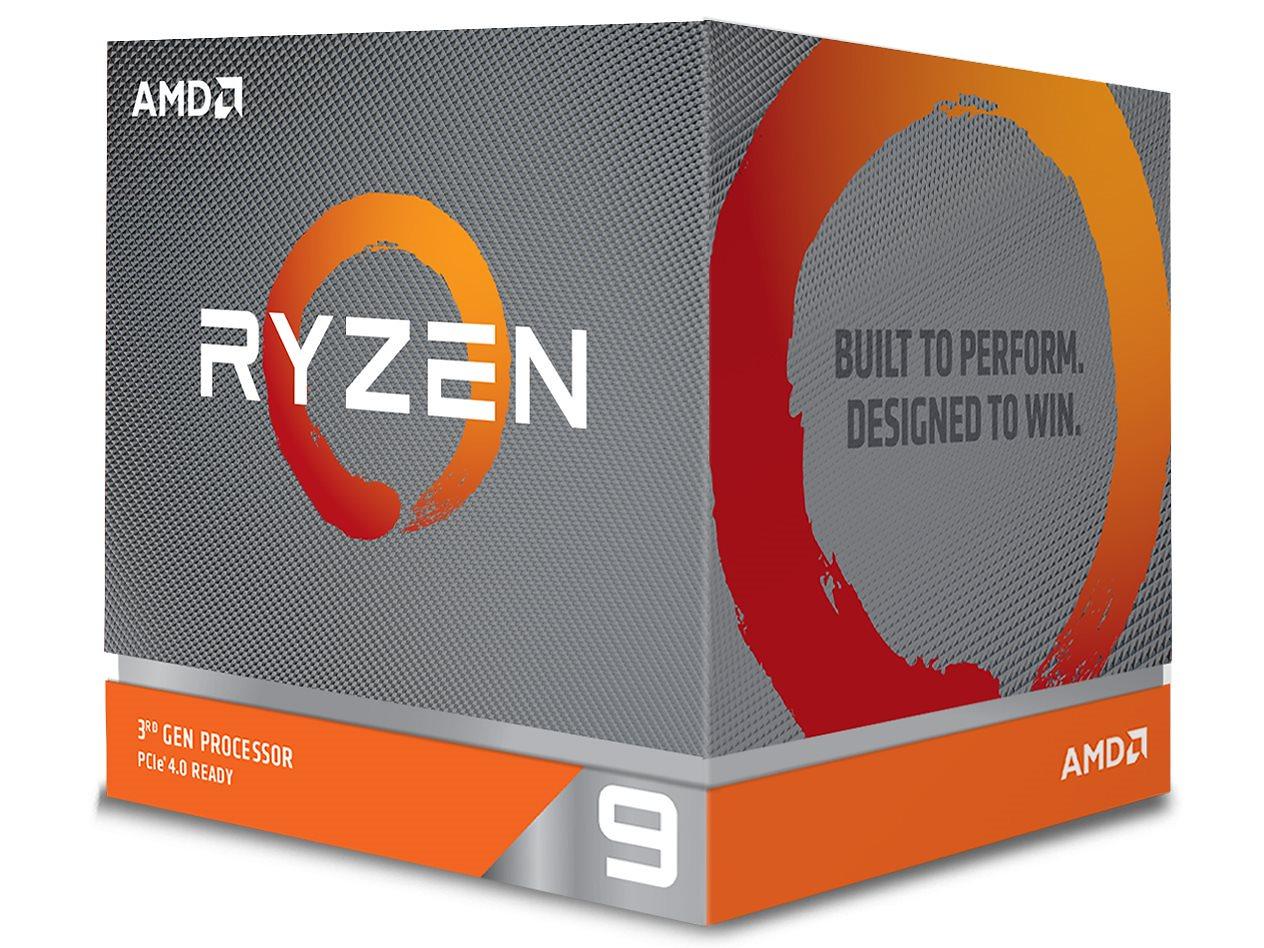 AMD Ryzen 9 3950X BOX 第3世代 100-100000051WOF (16C/32T、3.5GHz、TDP105W、Socket AM4) W/O CPU Cooler]