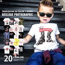 <他ではなかなか見ない!!超激かわTシャツ👕🍹>【夏物新作🍉🏖】韓国子供服 キッズ Tシャツ フォト ボックスロゴ 半袖Tシャツ 20カラー 子供服 綿100% BOXロゴ