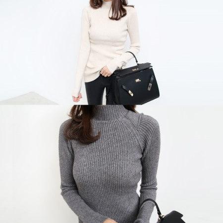 [Dimming] 6 color long shoulder knot turtle knit