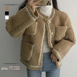 2020秋冬新作 大きいサイズ きゆるロングチェスターコート ても厚い ファーコート 韓国ファッション/コート毛皮のコート
