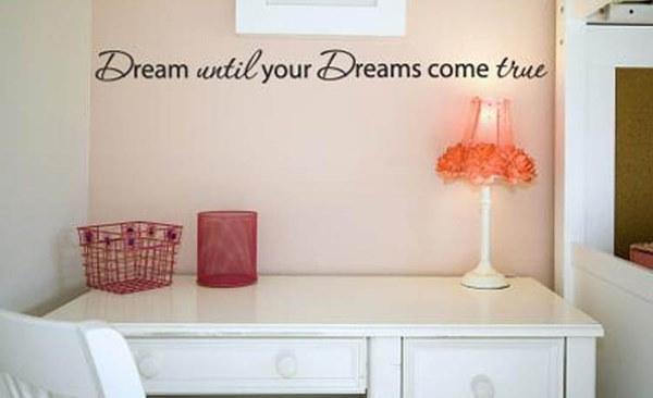 あなたの夢が実現するまで新しい夢ホームインテリアアートリムーバブルビニールウォールステッカーデカールルーム