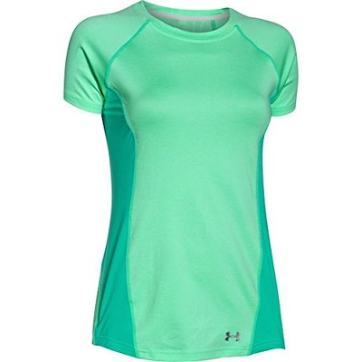 Under Armour Womens UA Coolswitch Trail Short Sleeve Antifreeze T-Shirt XL (US 16)