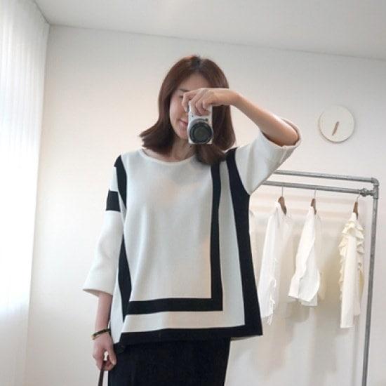 ポンジェイポンジェイクロッシィニット ニット/セーター/ニット/韓国ファッション