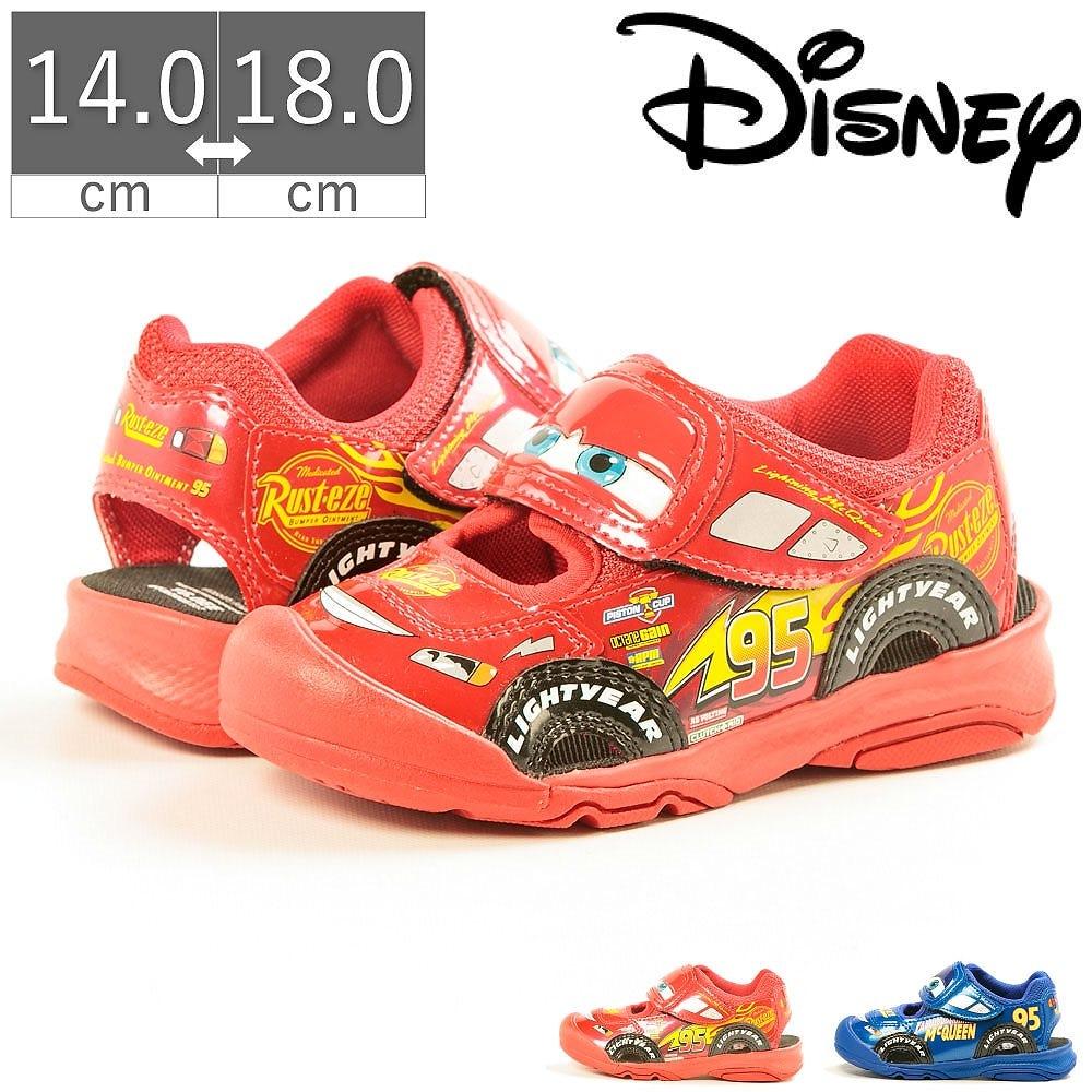 【30%OFF】 ディズニー Disney カーズ マックィーン サンダル スニーカー DN C1255 キッズ キッズシューズ ムーンスター moonstar 夏 2020