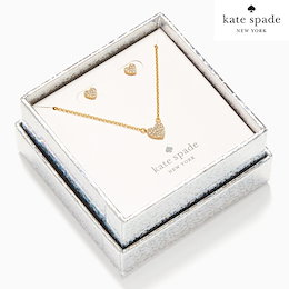 Kate Spade ケートスペード♥ レディース yours truly pave studs and mini pendant 箱付き ネックレスピアスセットO0R00112
