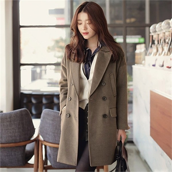 XLまでベルリンCOATCLGDC12 女性のコート/ 韓国ファッション/ジャケット/秋冬/レディース/ハーフ/ロング/