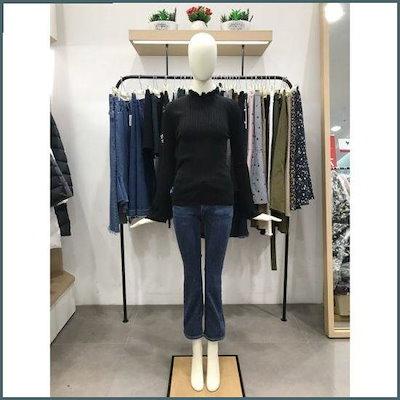 [ティレン]Wモールティレンリボン装飾やフリルネックのニットT174YSK903 /ニット/セーター/ニット/韓国ファッション