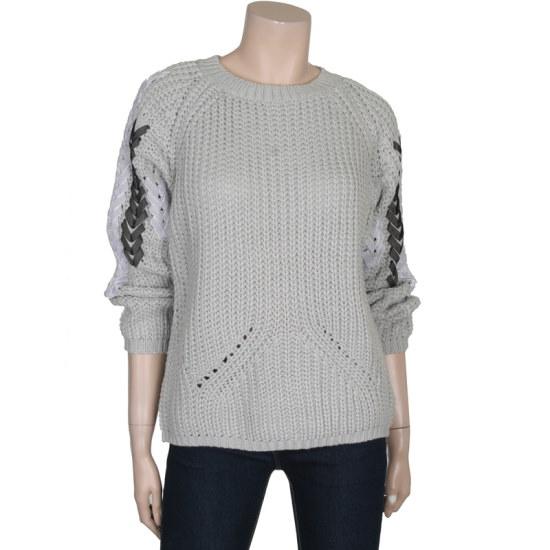 ディデム小売ポイントラウンドニートLK1610415 パターンニット/ニット/セーター/韓国ファッション
