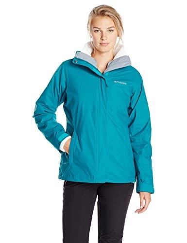 Columbia Womens Nordic Cold Front Interchange Jacket,Emerald/White,Large