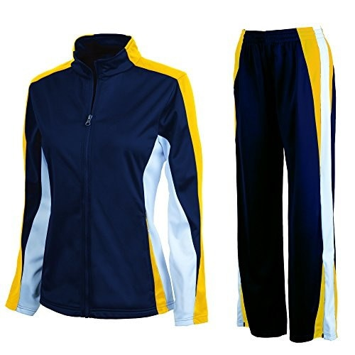 Charles River Womens Energy Jacket and Pant Set - Many Colors (Large, Navy/Gold/White)