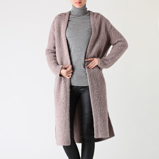 ボブ衣類アイレット装飾ニート7126450003 ロングニット/ルーズフィット/セーター/韓国ファッション
