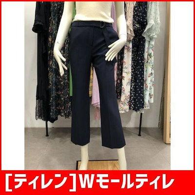 [ティレン]Wモールティレン・ベルテッド・ラジアル・ブーツカットスラックスT173MSA706 /パンツ/面パンツ/韓国ファッション