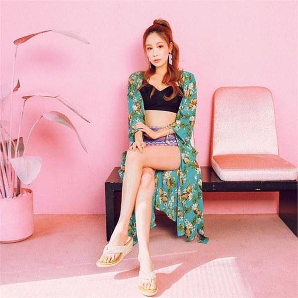 ビックサイズジェイ・スタイルフィルモアフラワー・ローブカディゴンnew 女性ニット/カーディガン/韓国ファッション