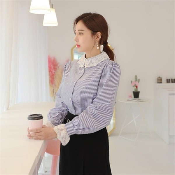 プレーンブラウス/ブラウス/シャツ/カラーブラウス/レースブラウスnew 女性ブラウス/フリル/シャーリングブラウス/韓国ファッション