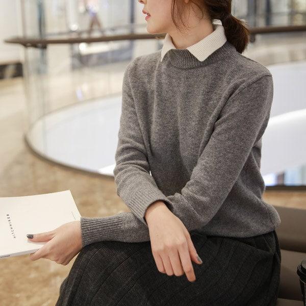 [CHICHERA]★送料無料★韓国ファッションサイトNo.1 / 基本カラーニットシャツ