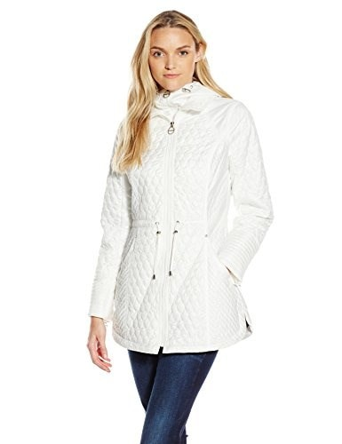 Laundry By Shelli Segal Womens Quilted Anorak, Cloud, Small