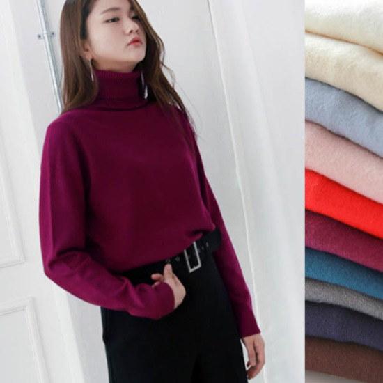 イニク包絡ポーラ・KNITニート ニット/セーター/タートルネック/ポーラーニット/韓国ファッション