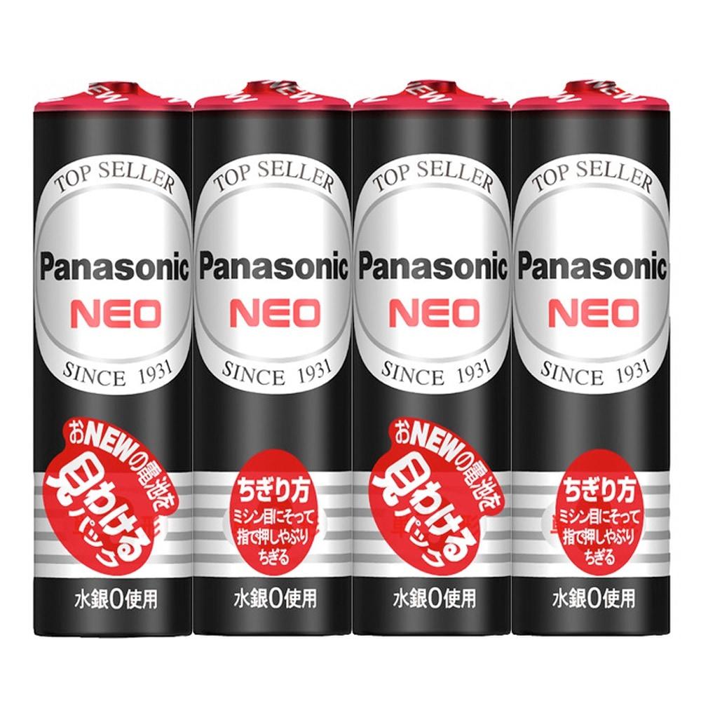 【訳あり】 パナソニック 単3形マンガン乾電池 NEO 1.5V 4本パック R6PNB/4VSE 推奨使用期限:2020年10月