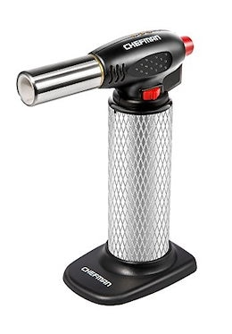 Chefman Culinary Torch Refillable Butane - Cooking Kitchen Blow Torch w/Safety Lock & Adjustable Fla