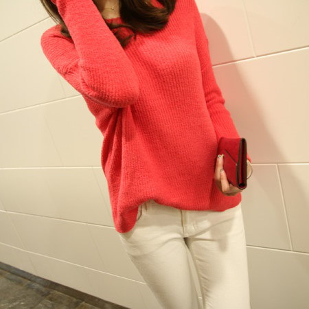 [Dimming] Soft Round Neck Knit 3color