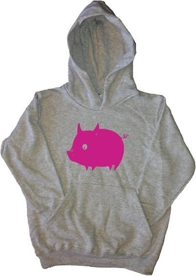 ベビー豚キッズパーカー
