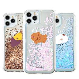 グリッター スマホケース 韓国 iPhone 12ProMax ケース シリコン 透明 さつまいも