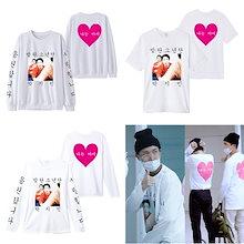 防弾少年団 JIMIN半袖Tシャツ 同じデザイン 韓国ファッション スウェット 男女兼用 トップス 韓国 K-POP 応援服