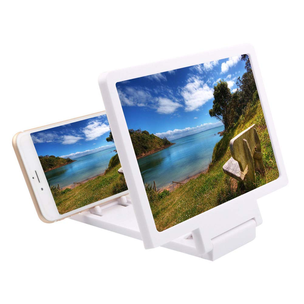 スクリーン拡大鏡アイシールドユニバーサルアンチ放射線用3d映画60度ロータリーラック調整可能3回拡大携帯電話拡大鏡ブラケット電話アクセサリー