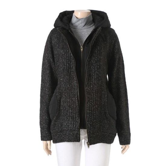 オリビアハスルロF・ニットフードOH5WSW119CH ニット/セーター/ニット/韓国ファッション