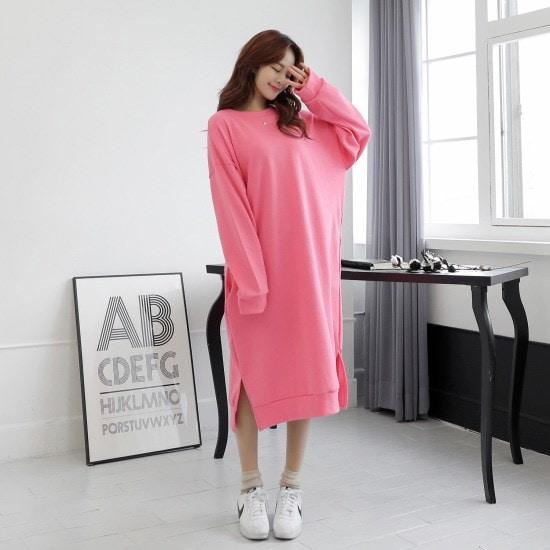 クルリクエンミジュティメアリーロングワンピース 綿ワンピース/ 韓国ファッション