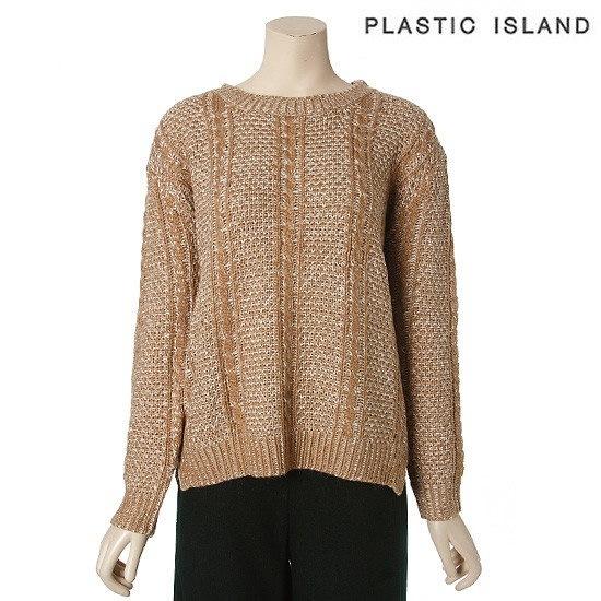 プラスチックアイルランドニットPF4KL064BE ニット/セーター/ニット/韓国ファッション