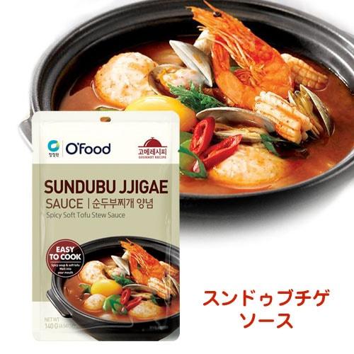 『清浄園』OFood スンドゥブチゲソース(140g) チョンジョンウォン グルメレシピ ヤンニョム 鍋の素 韓国調味料 韓国食材 韓国食品