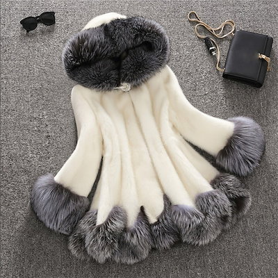 Winter Fashion Women s Warm Faux Fur Luxury Hooded Loose Coat