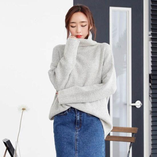 シーフォックスリビノポルラニトゥ ニット/セーター/タートルネック/ポーラーニット/韓国ファッション