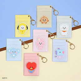 BTS (防彈少年團) x BT21 MONOPOLY Official Goods : Baby BT21 Leather Patch Card Holder