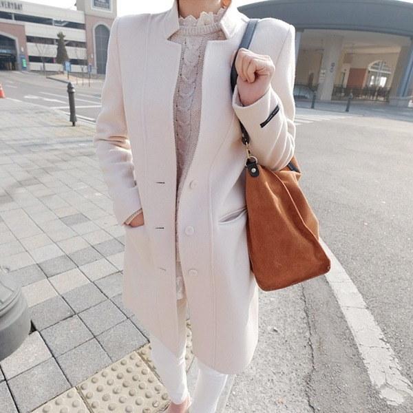 プラハウールのコートnew 女性のコート/ 韓国ファッション/ジャケット/秋冬/レディース/ハーフ/ロング/