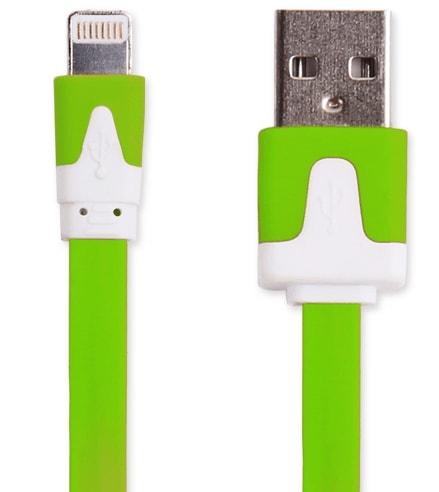 【頑丈なフラット/グリーン限定】 iphone7 plus 充電ケーブル iphone8 iphone6s 充電器 iphone5s iphone5 ipad mini USBケーブル iphone