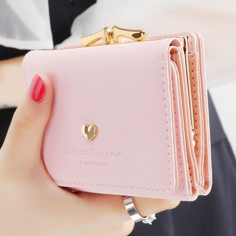 Liyaflying新作ミニ財布 レディース財布 ボタン レトロ 二つ折り 可愛い付 ラブリー 大容量持ち便利極小サイフプレゼントにもきれいサイフNF002