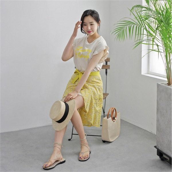 hlr06ブラディー・ワンピーススカートセットレタリングワンピースリボンnew 女性ニット/カーディガン/韓国ファッション