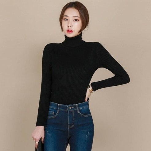 【WhiteFox]トドゥルネクスリム段ボールニットニットkorea fashion style free shipping