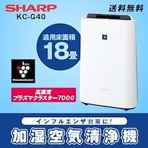 [インフルエンザ・花粉対策に!][SHARP]KC-G40 加湿空清モード13畳までカバー!