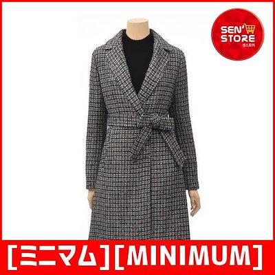 [ミニマム][MINIMUM]・ツイードシンプルロングジャケットMSDGWJ9540-BL /テーラードジャケット/ 韓国ファッション