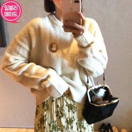 【Imvely]ポグンヘ与えるニットkorean fashion style