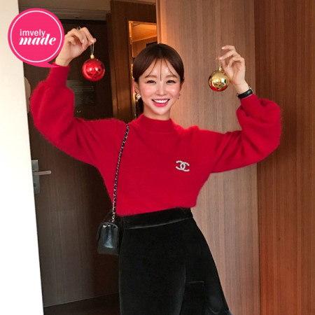 【Imvely]メリーブリマスアンゴラニットkorean fashion style