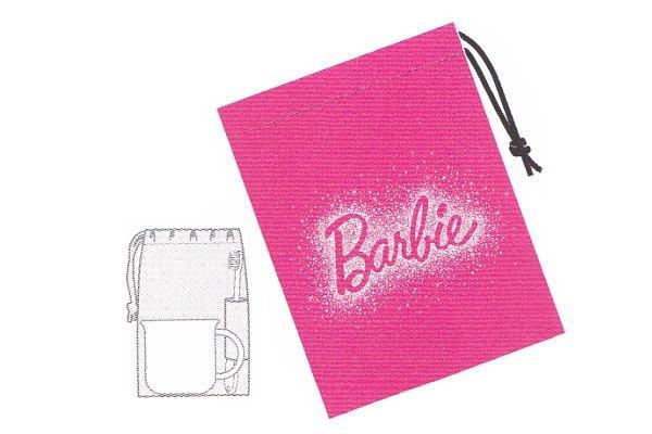 【Barbie】コップ袋【バービー】【レディ】【バービー人形】【アメリカ】【女の子】【アウトドア】【巾着袋】【小物入れ】【遠足】【入園】【保育園】【グッズ】【ピクニック】【かわいい】