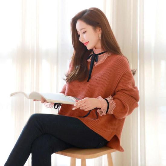 スタイルオンミソプティトーンダウンブイネク・ニット ニット/セーター/ニット/韓国ファッション